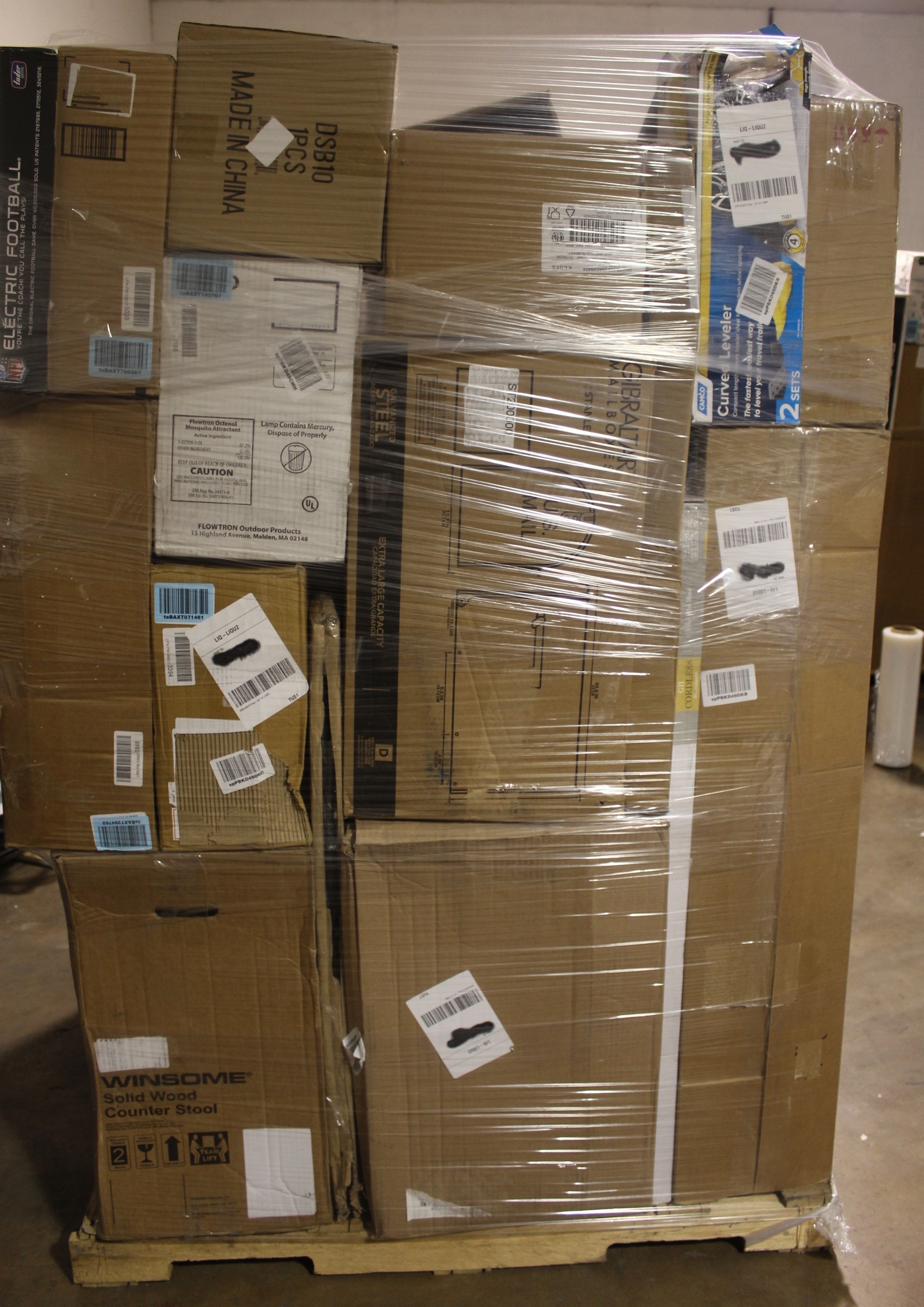 General Merchandise Pallet MSRP $1,840 64 Domestics, Furniture and